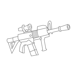 Thermal Scoped Assault Rifle  Fortnite Free Coloring Page for Kids