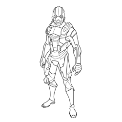 Vertex Outfit Fortnite Free Coloring Page for Kids