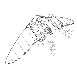 Water Wings Fortnite Free Coloring Page for Kids
