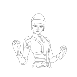 Wildcat Fortnite Free Coloring Page for Kids