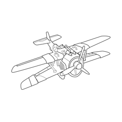 X 4 Stormwing Plane Fortnite Free Coloring Page for Kids