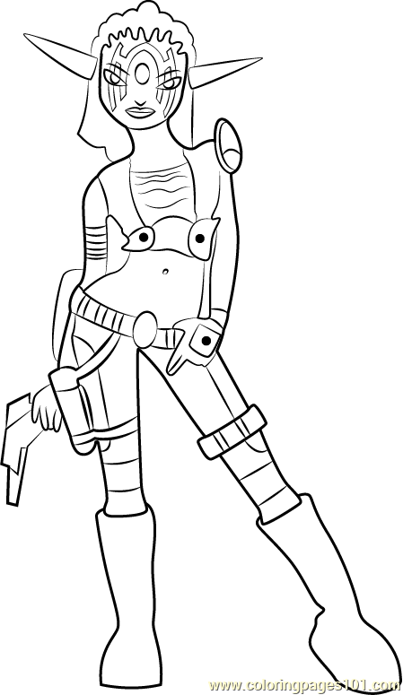 Ashelin Coloring Page