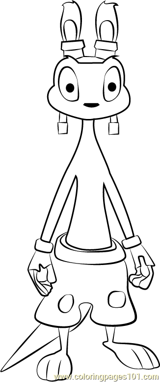 Daxter  Coloring Page