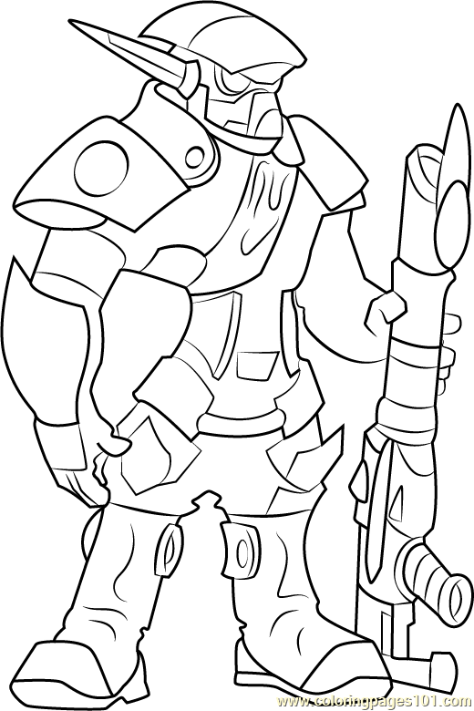 The Krimzon Guard Coloring Page