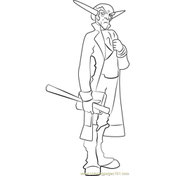 Count Veger coloring page