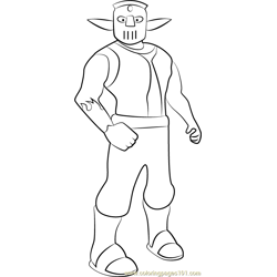 Cutter coloring page