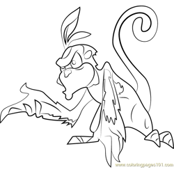 Pecker Free Coloring Page for Kids