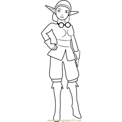 Rayn coloring page