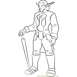 Skyheed coloring page