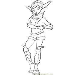 Tess Free Coloring Page for Kids