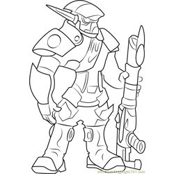 The Krimzon Guard Free Coloring Page for Kids