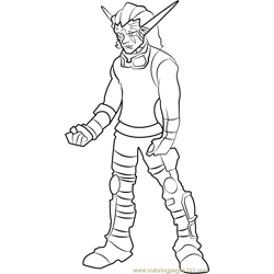 Torn coloring page