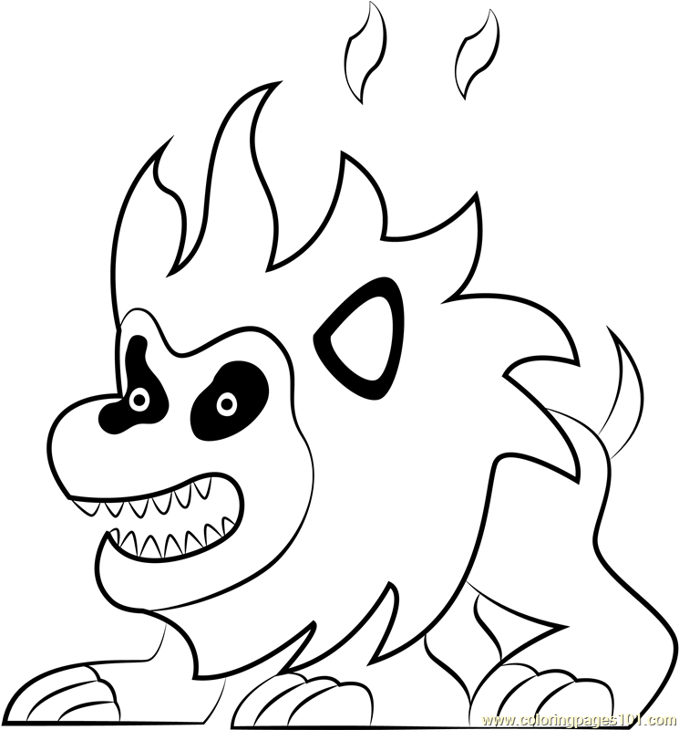 Fire Lion Coloring Page - Free Kirby Coloring Pages ...