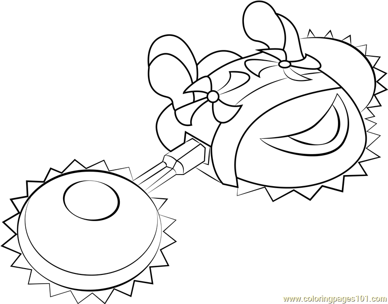 Heavy Mole Coloring Page Free Kirby Coloring Pages