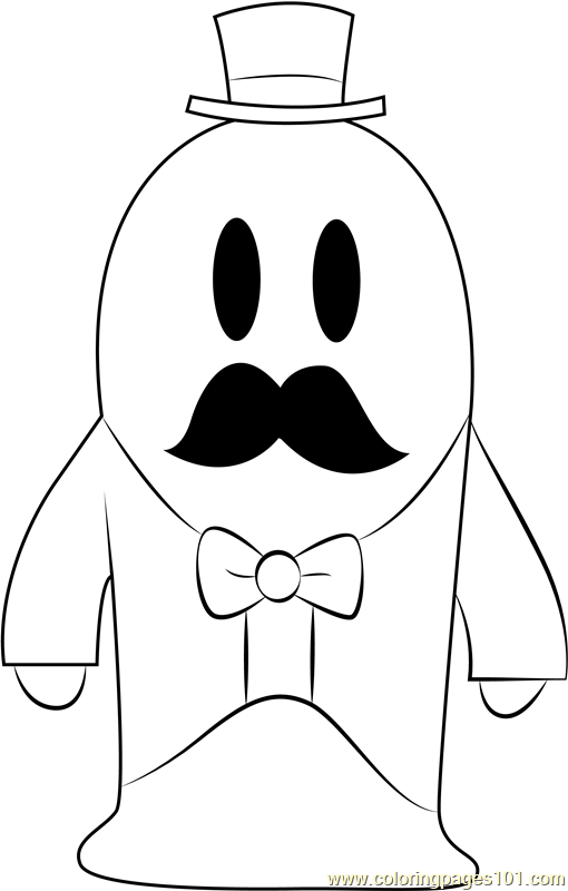 Mayor Len Blustergas Coloring Page
