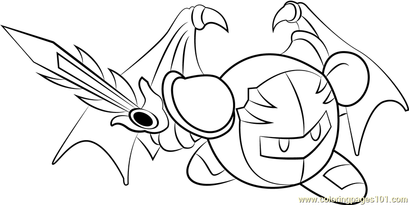 Meta Knight Coloring Page Free