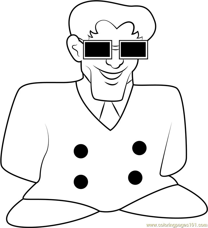 NME Salesman Coloring Page - Free Kirby Coloring Pages ...