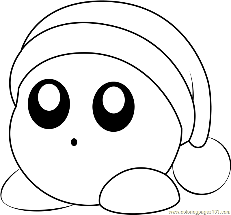 Noddy Coloring Page - Free Kirby Coloring Pages : ColoringPages101.com