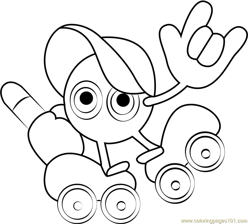 Paint Roller Coloring Page
