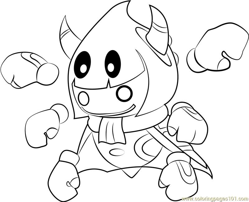 Taranza Coloring Page Free Kirby