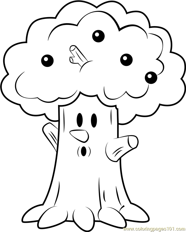 Whispy Woods Coloring Page Free Kirby Coloring Pages