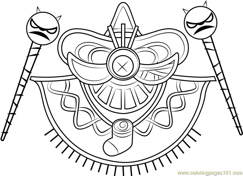 Yin Yarn Coloring Page - Free Kirby Coloring Pages ...