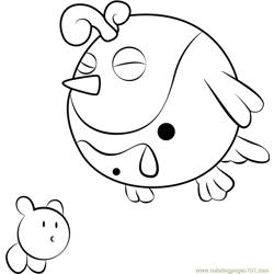 Big Birdee Free Coloring Page for Kids