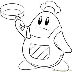 Chef Kawasaki coloring page