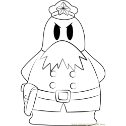 Chief Bookem Free Coloring Page for Kids