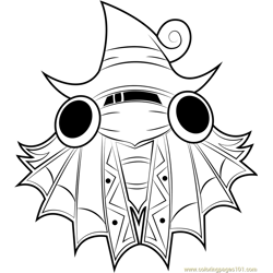 Drawcia coloring page