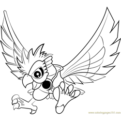 Dyna Blade coloring page