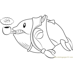 Fatty Whale coloring page