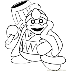 King Dedede Free Coloring Page for Kids