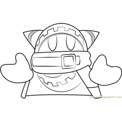 Magolor Free Coloring Page for Kids