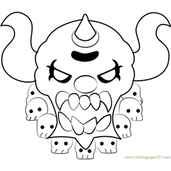 Necrodeus Free Coloring Page for Kids