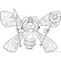 Queen Sectonia Free Coloring Page for Kids