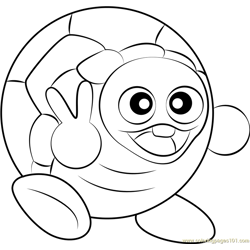 Rolling Turtle Free Coloring Page for Kids