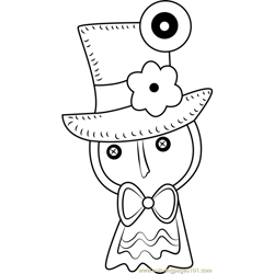 Squashini Free Coloring Page for Kids