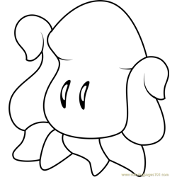 Squishy Free Coloring Page for Kids