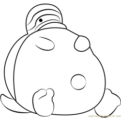 Tortletummy Free Coloring Page for Kids