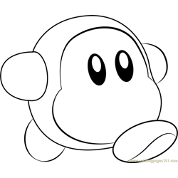 Waddle Dee Free Coloring Page for Kids