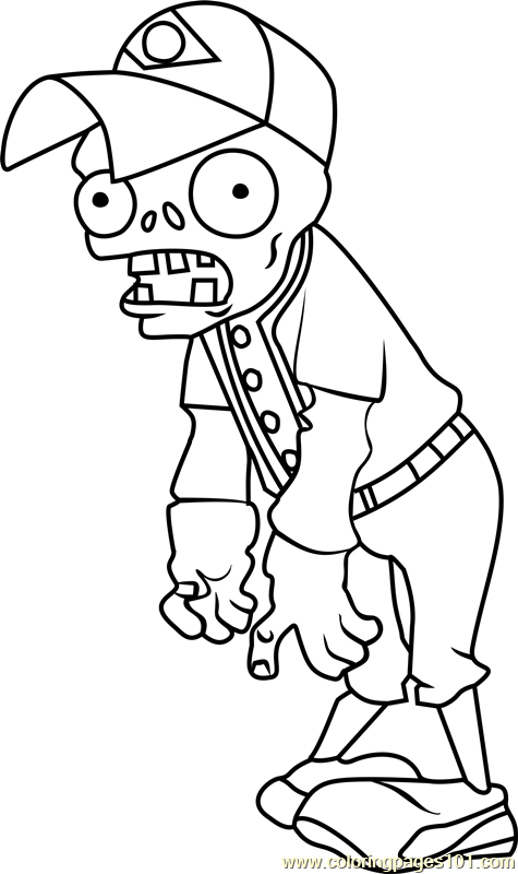 zombie football player coloring pages - photo#15