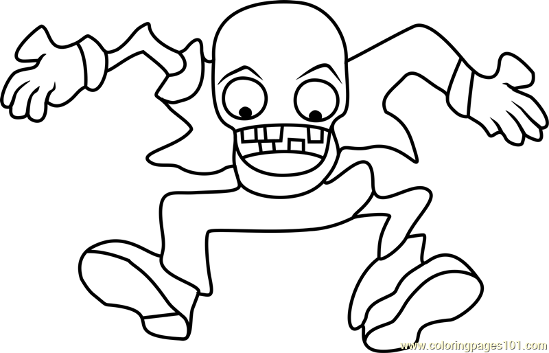 Bungee Zombie Coloring Page Free