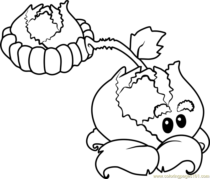 Cabbage-pult Coloring Page