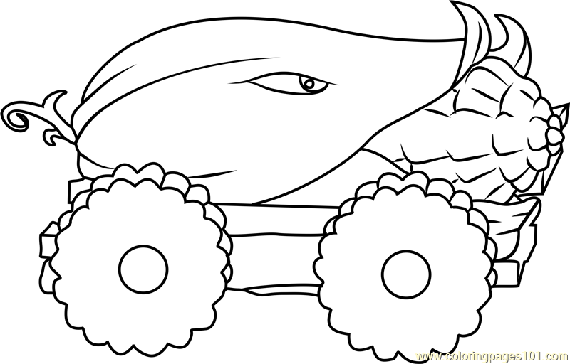 Coloring Pages For Plants Vs Zombies : Cob cannon coloring page free plants vs zombies