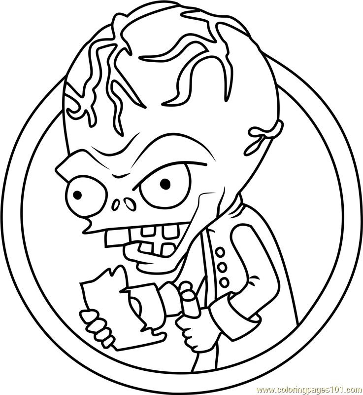 Dr Zomboss Coloring Page