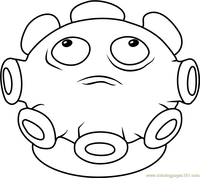 Gloom shroom coloring page free plants vs zombies for Pvz coloring pages