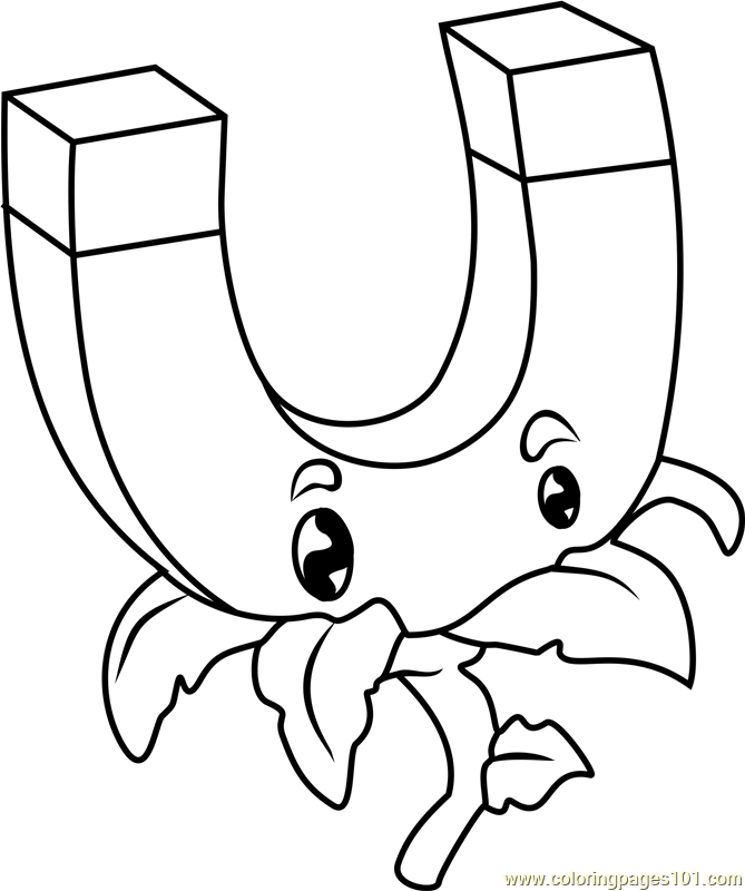 gold magnet coloring page