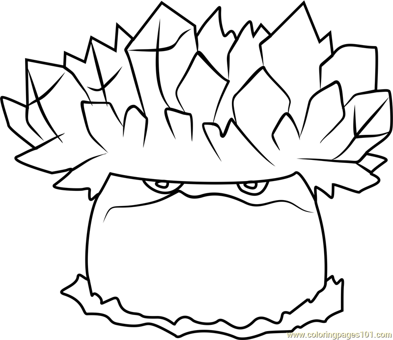 ice shroom coloring page