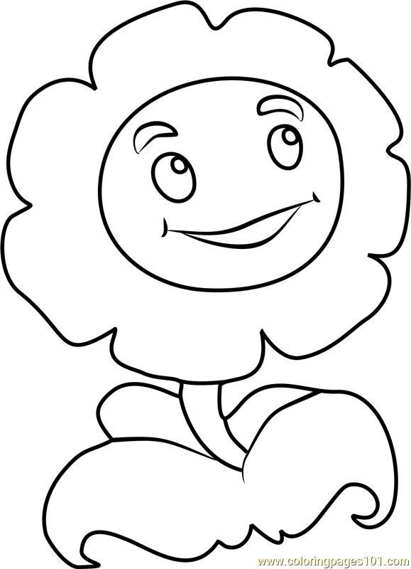 Marigold Coloring Page Free Plants Vs Zombies Coloring